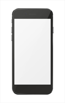 Smartphone lokalisiert auf weißem hintergrund.