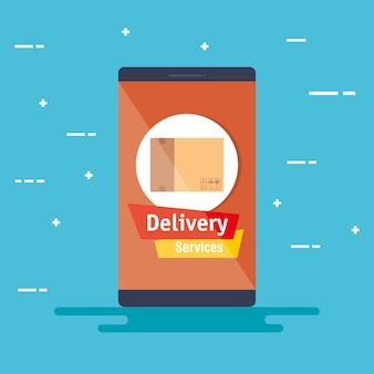 Smartphone mit app-lieferservice