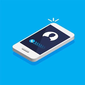 Smartphone mit eingehendem anruf auf einem bildschirm