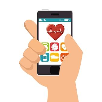 Smartphone mit fitness-app