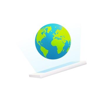 Smartphone mit Globus-Display