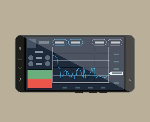 Smartphone mit handelsanwendung