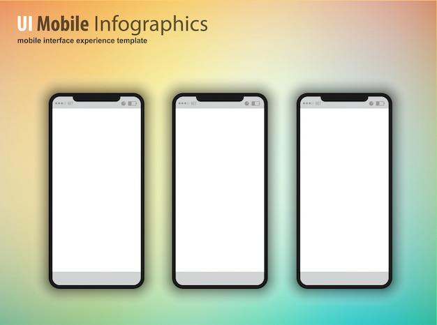 Smartphone mit leerem bildschirm, gerät der nächsten generation