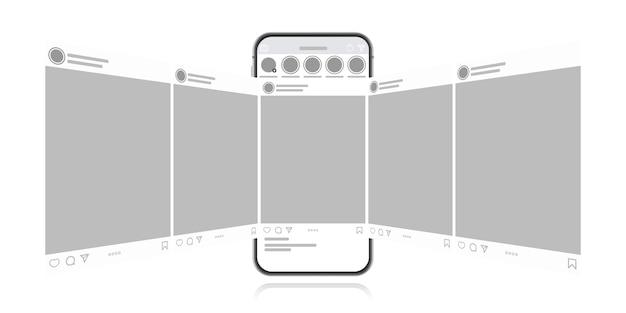 Smartphone mit messenger-chat-bildschirm.