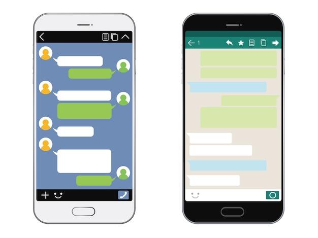 Smartphone mit sns-schnittstelle isoliert