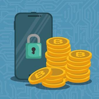 Smartphone mit virtuellen münzen