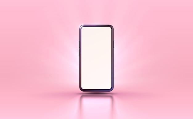 Smartphone mobile bildschirmtechnologie mobiler display-lichtvektor