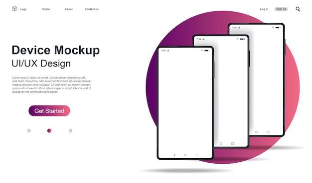 Smartphone-modell. vorlage für infografiken oder präsentations-ui-design-schnittstelle.