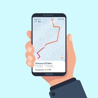 Smartphone-navigations-app