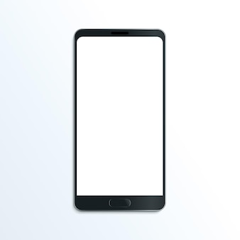 Smartphone realistische vektormodell-mobilkommunikationsillustration