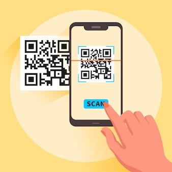 Smartphone-scan-qr-code-illustration