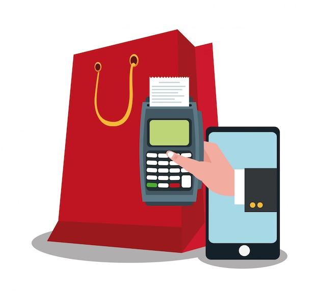 Smartphone-shopping und e-commerce