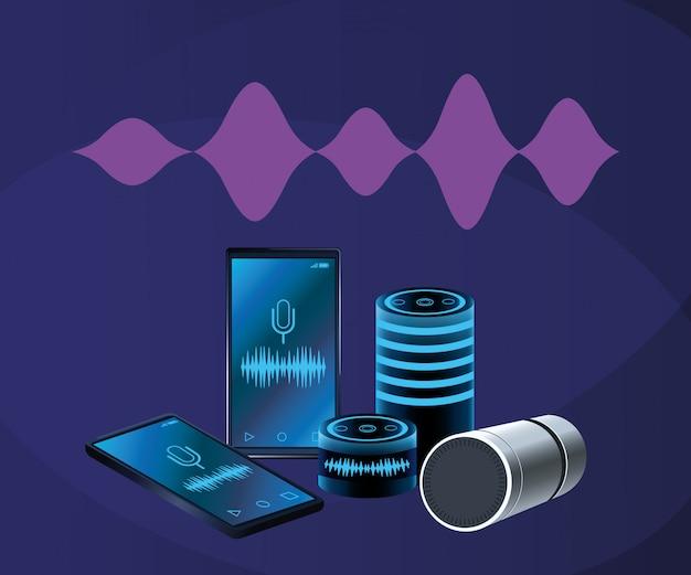 Smartphone-spracherkennungslautsprecher