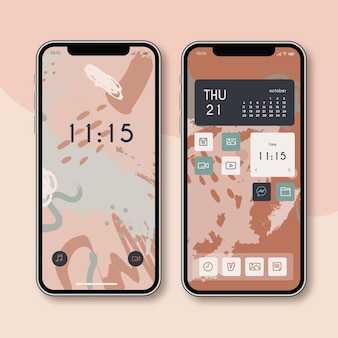 Smartphone-startbildschirm