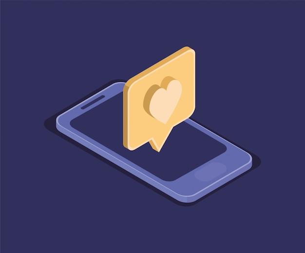 Smartphone technologie gerät isolierte symbol