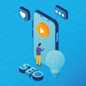 Smartphone- und social-media-marketing