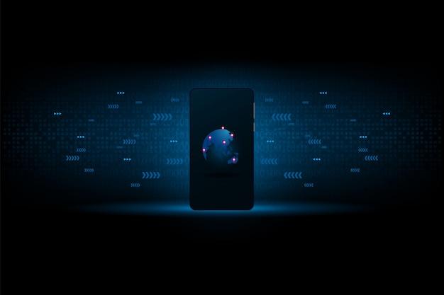 Smartphone verbinden die welt für die zukunft