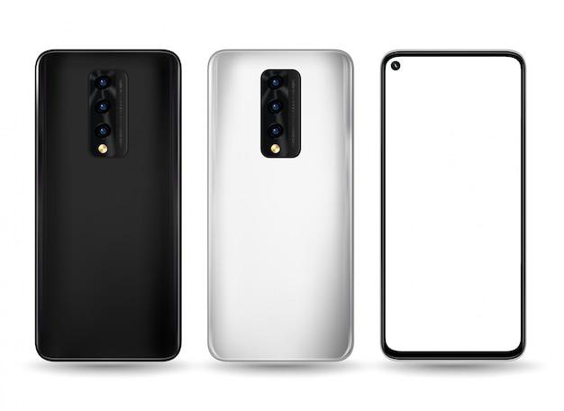 Smartphone vorne hinten illustration für technologie-werbung