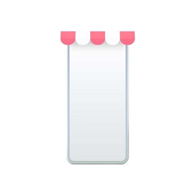 Smartphonebildschirm mit markise