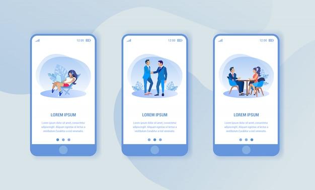 Smartphones auf blauem hintergrund. verschiedene bilder.