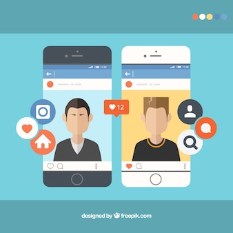 Smartphones mit instagram