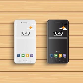 Smartphones schwarz und weiß