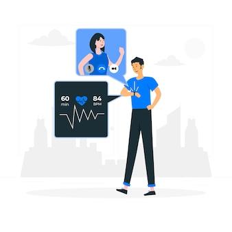 Smartwatch-konzeptillustration