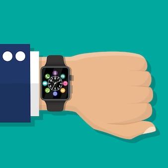 Smartwatch zur hand.