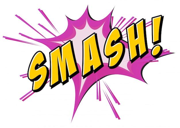 Smash flash auf weiß
