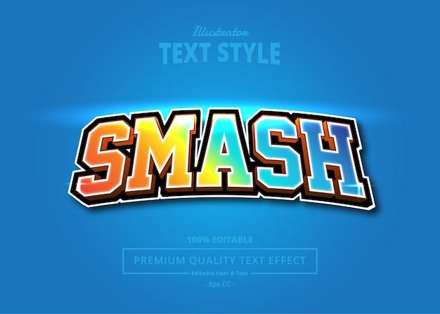 Smash illustrator texteffekt