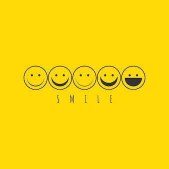 Smile emoticon logo