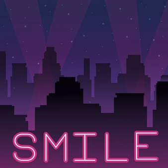 Smile neon werbung