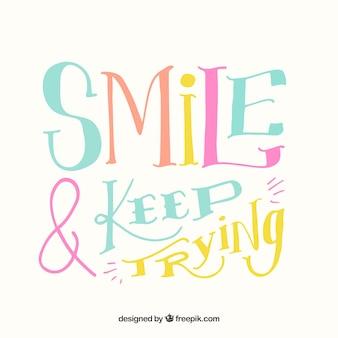 Smile zitat hintergrund