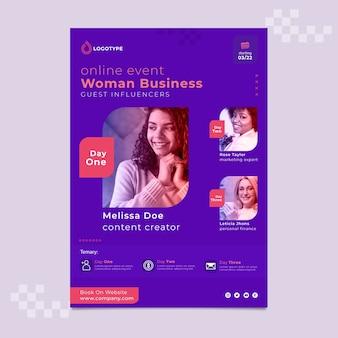 Smiley geschäftsfrau plakatvorlage