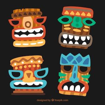Smiley hawaiianische masken