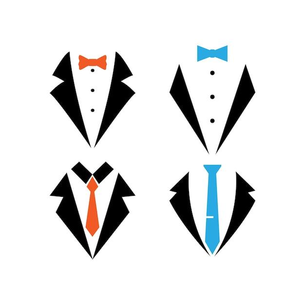 Smoking anzug icon set designvorlage