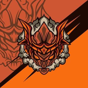 Smoky woody monster für logo-maskottchen-spiele oder andere