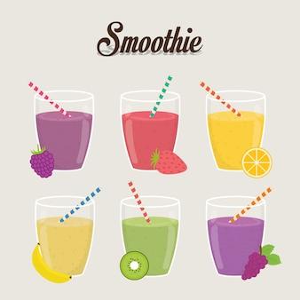 Smoothie-design. illuistration