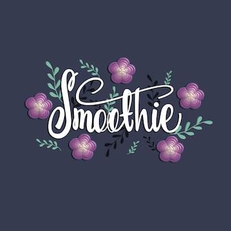 Smoothie-schriftzug-banner-design