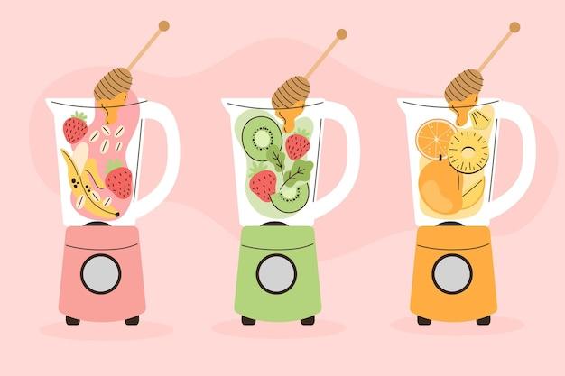 Smoothies im mixerglas