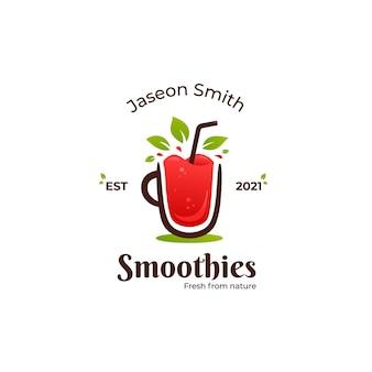Smoothies-logo für frische früchte