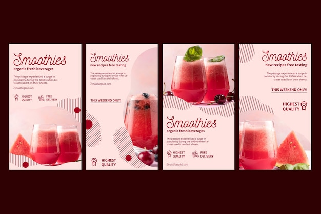 Smoothies sperren social-media-geschichten