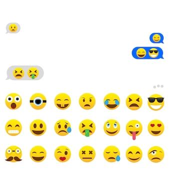 Sms-chat mit emoji auf einem smartphone