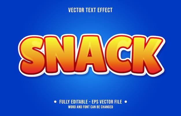 Snack bearbeitbarer texteffekt moderner verlaufsstil