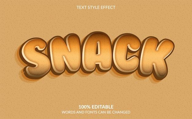 Snack textstileffekt 3d moderner textstil