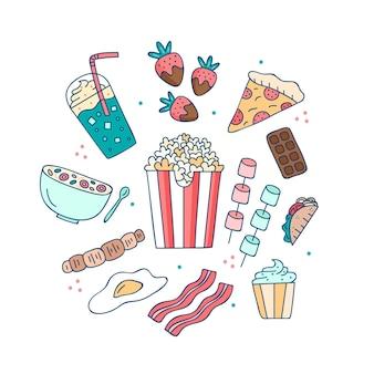 Snacks und junk comfort food