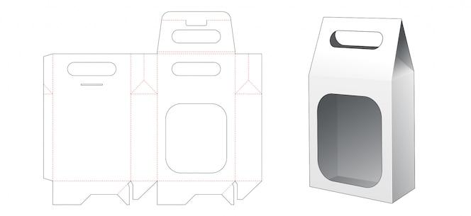 Snackverpackungstasche mit gestanzter schablonenhalter