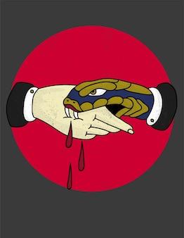 Snake traue niemandem tattoo