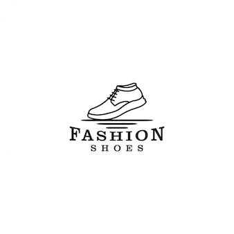 Sneaker-logo für schuhgeschäfte oder outdoor-aktivitäten