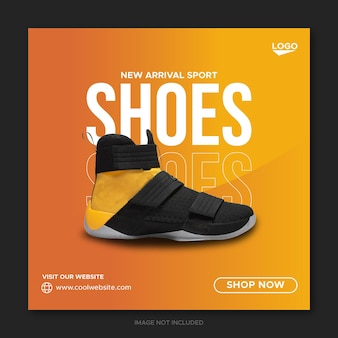 Sneakers social media banner und instagram post design and